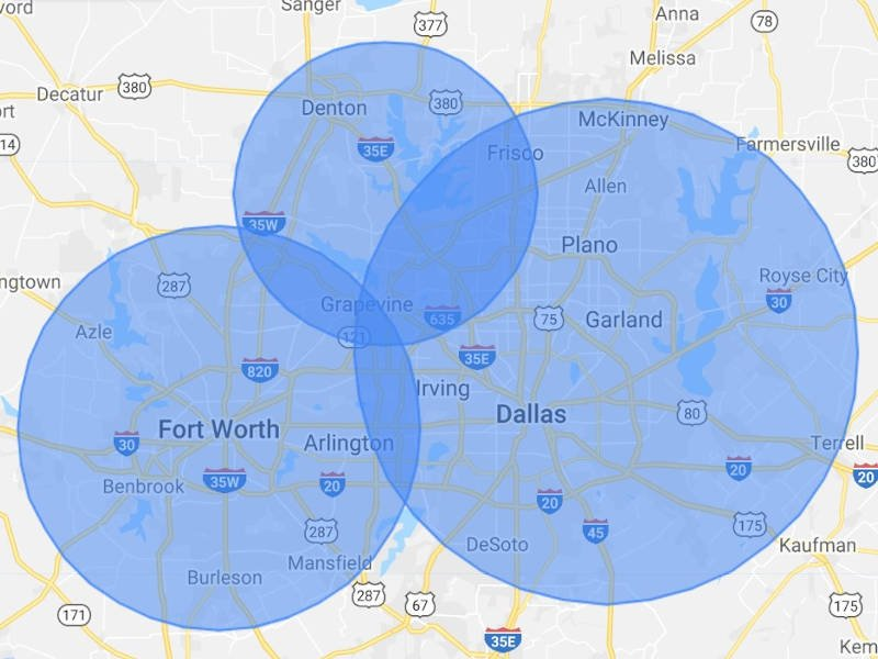 Mold Busters Dallas / Fort Worth Texas Service Areas - Based in Lewsivlle, TX