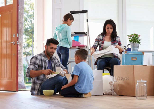 Family Moving into new mold-free home
